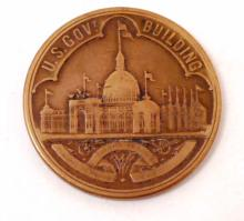 1893 WORLD'S COLUMBIAN EXPOSITION CHICAGO COIN MEDALLION