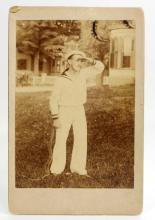 ANTIQUE CABINET CARD PHOTO OF A SAILOR - SELF PORTRAIT