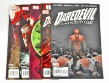 LOT OF 5 MARVEL DAREDEVIL COMIC BOOKS