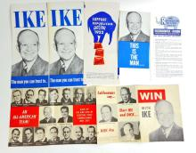 LOT OF DWIGHT D EISENHOWER PRESIDENTIAL CAMPAIGN ITEMS