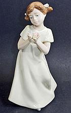 VINTAGE NADAL CHILD W/ FLOWERS PORCELAIN FIGURINE