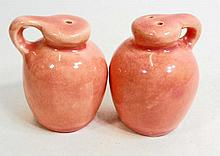 VINTAGE SET OF CALIFORNIA POTTERY SALT AND PEPPER SHAKERS