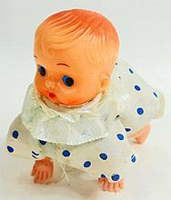 VINTAGE CELLULOID BABY DOLL WIND UP TOY