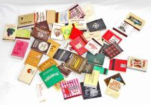 LOT OF 50 VINTAGE MATCH BOOKS MATCHBOX ADVERTISING