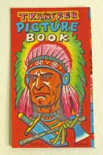VINTAGE TRANSFER PICTURE BOOK W/ INDIAN CHIEF