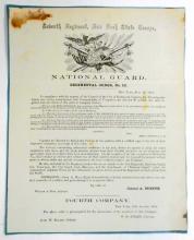 1858 NATIONAL GUARD REGIMENT ORDERS