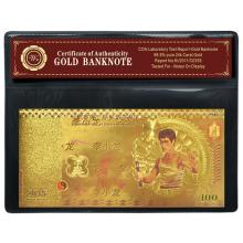 99.9% 24K GOLD BRUCE LEE BANKNOTE BILL WITH COA