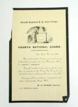 1859 SEVENTH REGIMENT FOURTH NATIONAL GUARD FLYER