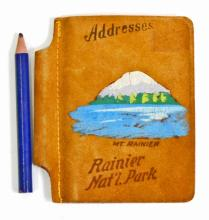 VINTAGE MT. RAINIER NATIONAL PARK SOUVENIR ADDRESS BOOK