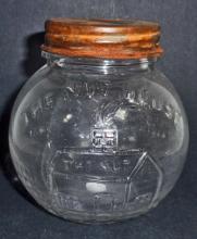 NUT HOUSE STORE GLASS JAR