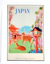 JAPAN BOARD OF TOURISTS CANVAS  PRINT