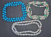 LOT OF 3 ESTATE COSTUME JEWELRY NECKLACES