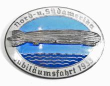 GERMAN NAZI GRA ZEPPELIN AIR SHIP BADGE
