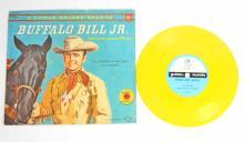 VINTAGE BUFFALO BILL JR. LITTLE GOLDEN RECORD & BOOK - 25 CENT COVER