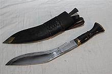 A Nepalese Dirk with Scabbard