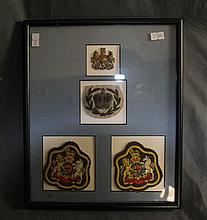 Three WWII English Officer's Patches and Badge