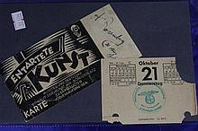 A Ticket to Book Burning held March 1936 in Munich
