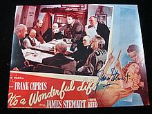 A Colour It's A Woonderful Life Publicity Card Signed by James Stewart