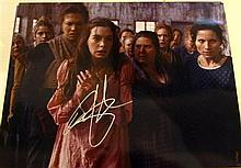 A Colour Photograph from Les Miserables signed Anne Hathaway