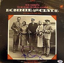 A Bonnie and Clyde Soundtrack LP signed on front Faye Dunnaway