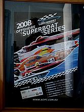 Two Framed Superboat Racing Posters