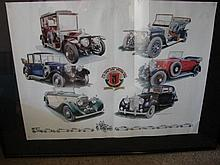 A Framed Rolls-Royce Owners Club of Australia Commemorative Poster 2006