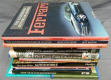 A box of a dozen transport related titles