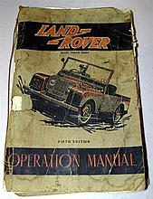 A very rare Landrover operation manual 1951-1953 Models
