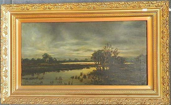 A Paynter Evening over the River Oil on canvas