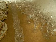 Set Of Crystal Ware Including Wine, Champagne, Sherry, Port And Whiskey Glasses Etc