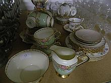 Various Tea Cups And Saucers With Tea Pot And Milk Jug, Including; Ansley