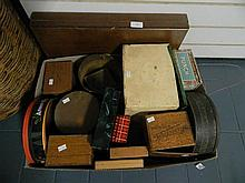 Box of Mid 20th Century Collectible Tins and Advertising Boxes
