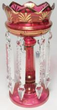 A Victorian ruby lustre