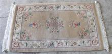 A Chinese hand knotted wool rug