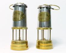 A pair of British Coal Mining Company Wales Miners Lamps, Aberaman Colliery