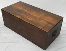 An early pine travelling chest