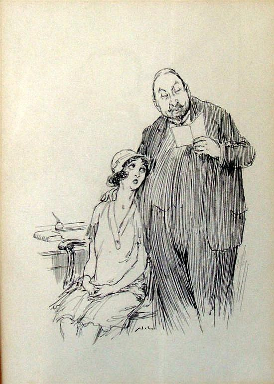 Norman Alfred Williams Lindsay (1879-1969) The Note Pen & Ink