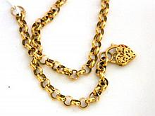 A 9ct Yellow Gold Silver Filled Belcher Necklace