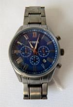 A Gents Fossil stainless steel watch