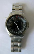 A Gents stainless steel Guess watch
