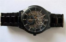A Gents automatic Fossil watch with Skeleton dial