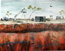 Melitta Perry (b.1969) Opal Mine Dreams (Lightening Ridge) 2006 Acrylic on paper