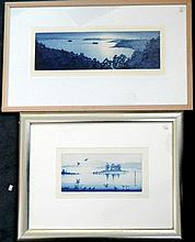 Peter Hickey (b.1943) Night Ferry 1987 + Night Gathering 1991 (2) Each etching/aquatint ed. 23/25 + 20/25