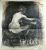Joe Rose (1915-) Nude Study Charcoal on paper