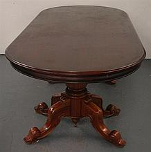 A Large Mahogany Twin Pedestal Ten Seater Dining Table