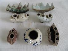 A Collection of seven Chinese Ceramic Scholar's Items