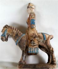 A Chinese ceramic Horse & Rider Figure