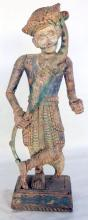 An Indian Wood Carved Standing Figure