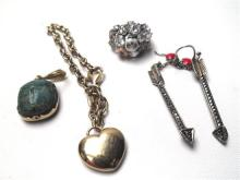 A Collection of Costume Jewellery including Bracelet, Ring, Earrings