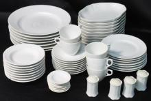 A Royal Copenhagen part dinner set comprising plates, bowls, cups & saucers, salt & pepper (approximately fifty undamaged pieces)
